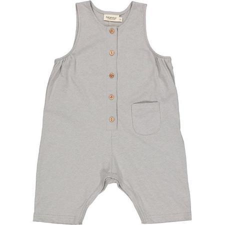 kids marmar copenhagen sleeveless baby romper - chalk melange