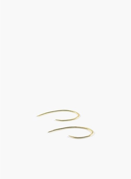ADORN MEDIUM HOOK EAR PIN - 14K GOLD VERMEIL