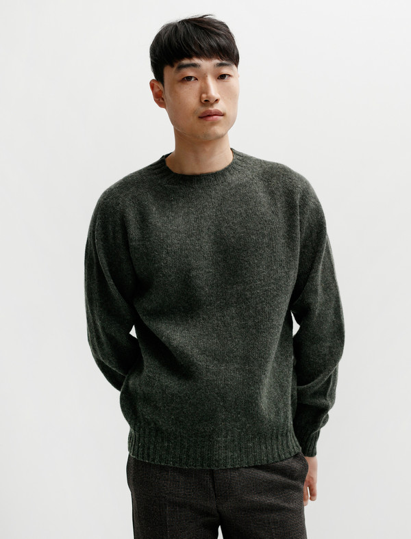 Neighbour Shetland Sweater - Spruce