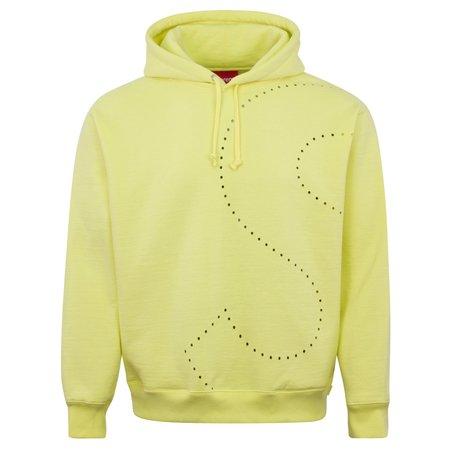Supreme Laser Cut 'S' Logo Hooded Sweatshirt - Yellow
