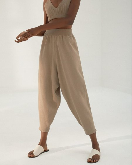 Tidy Street General Store Monica Cordera Knit Pants - Taupe