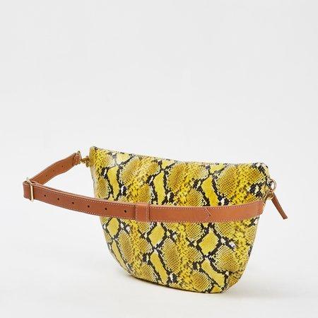 Clare V Grande Mini  Fanny - Yellow Snake
