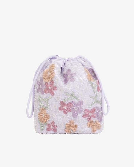 Hvisk Dreamy Beaded Pouch - Soft Pink