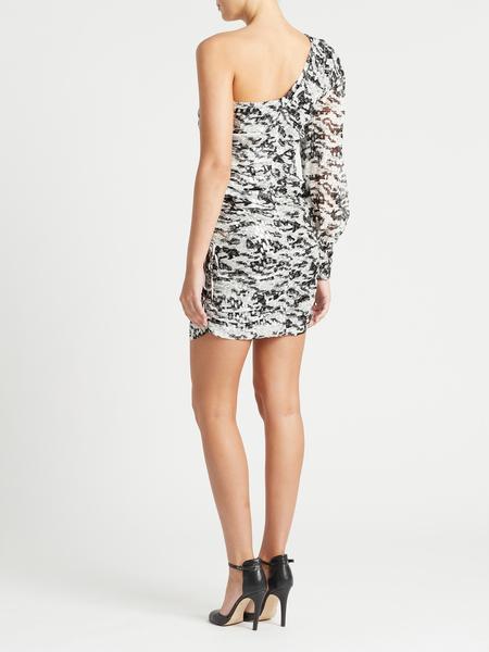 IRO Kallar Dress - Black/White/Silver