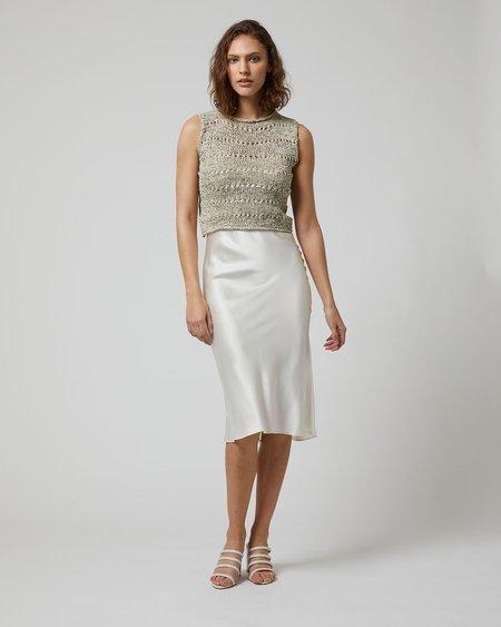 VOZ Marble Knit Crop Top - Sand