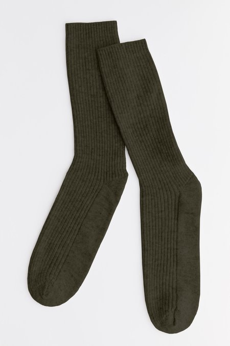 Laing Home The Sleeper Cashmere Bed Socks - Forest