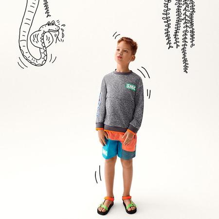 Kids Stella McCartney Colour blocked Swim Shorts - Orange