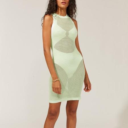 Solid & Striped Carson Mesh Cover Up Dress - Pistachio