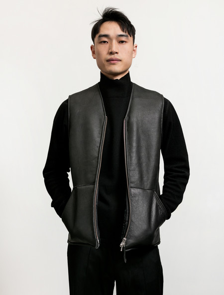 Our Legacy Men's Vest Black Shearling