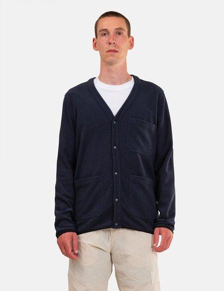 Norse Projects Vidar Fleece Jacket - Navy Blue