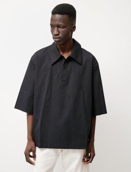 Camiel Fortgens Short Sleeve  Button Polo Shirt - Black