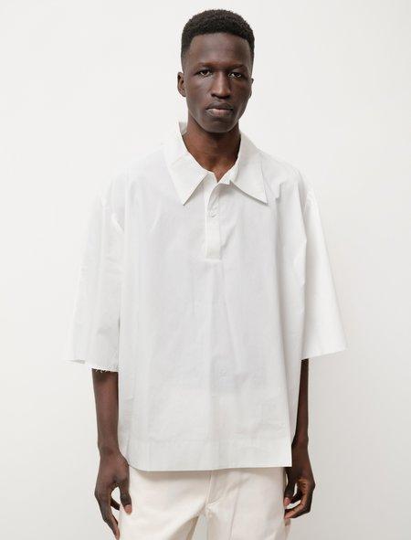 Camiel Fortgens Short Sleeve Button Polo Shirt - White