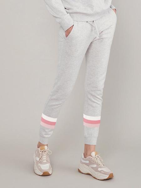 South Parade Lucy Sweatpant - Light Heather Grey/Triple Stripes
