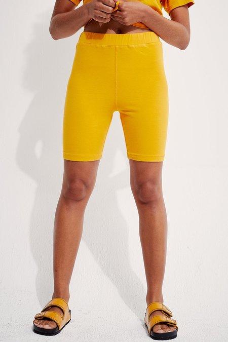 back beat rags Organic Cotton Biker Shorts - Honey