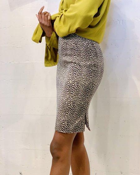 Vintage Versace Print Skirt - black/white