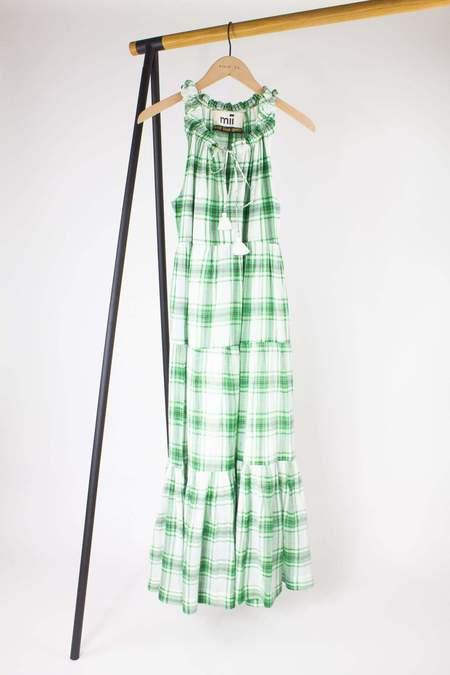 Mii Collection Gabrielle Dress - Green Plaid