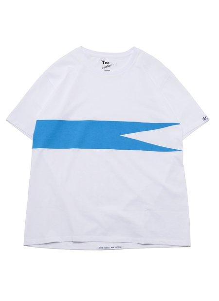nanamica COOLMAX Graphic S/S Tee - White/Blue