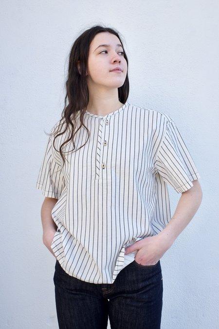 Girls of Dust Baseball Smock shirt - Stripe