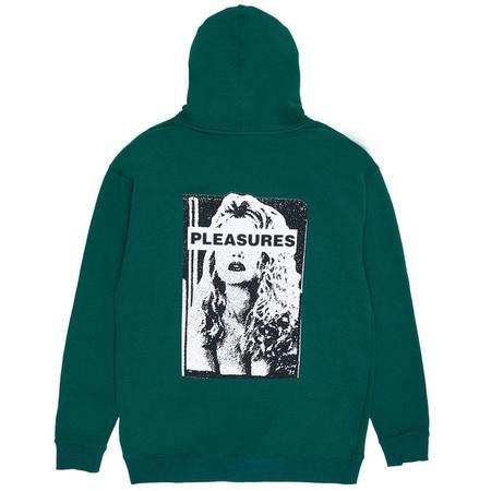 PLEASURES Hate Free Hoody sweater - Green