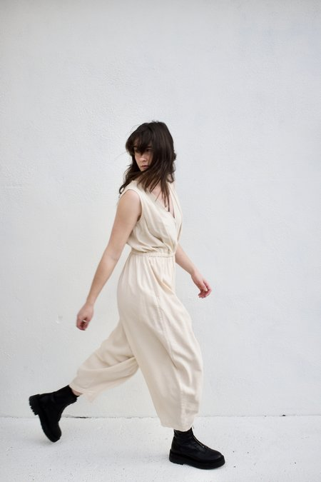 Mónica Cordera Linen Jumpsuit - Sand