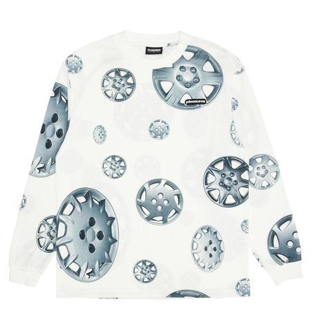 Pleasures Roadside Long Sleeve Shirt - White