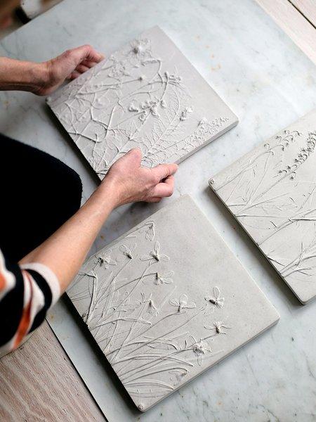 Rachel Dein Lily of the Valley Concrete Tile - white