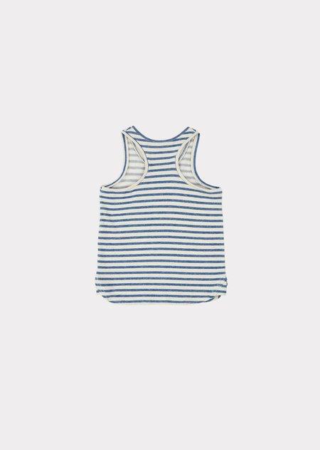 Caramel Bluebottle Singlet top - Blue/Ivory Stripe