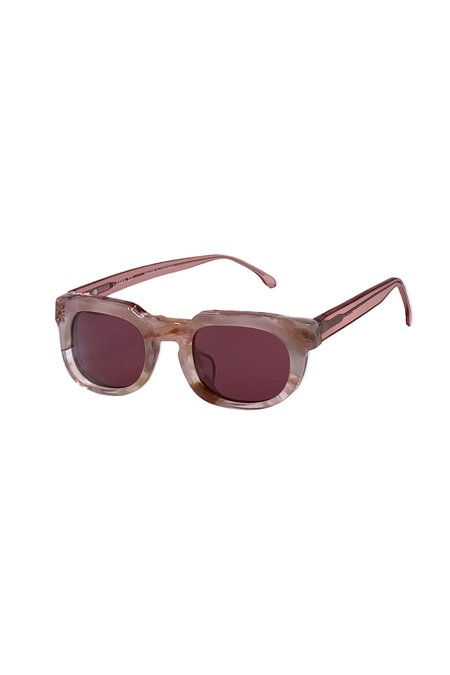 Anna Sui Recycled Acetate Square Sunglasses - Rose