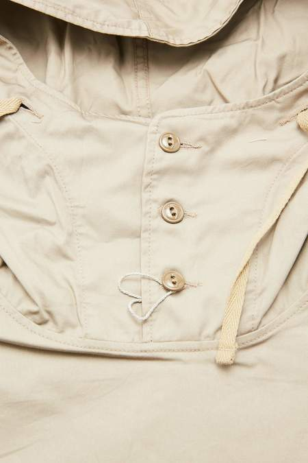 Engineered Garments Cagoule High Count Twill Shirt - Khaki