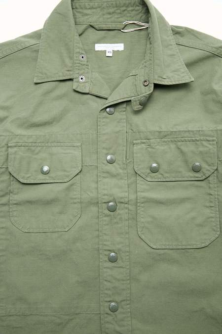 Engineered Garments Field Shirt Jacket - Olive Cotton Ripstop