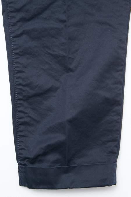 Beams Plus 1Pleat 80/3 Twill Pants - Navy