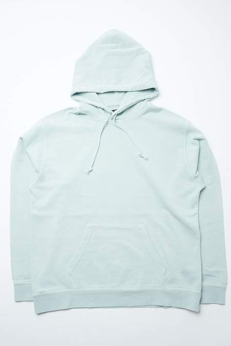 Beams Plus Sweat Pigment Dye Pull Over Hoodie - MINT GREEN