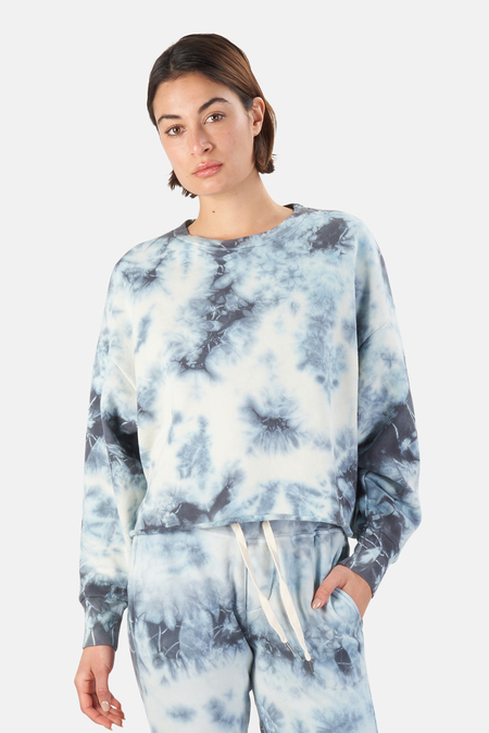 NSF Sonia Crewneck Sweater - Storm Tie Dye