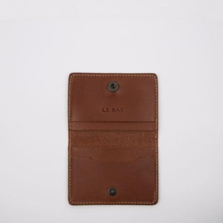 Le Bas Bifold Card Holder - Chestnut