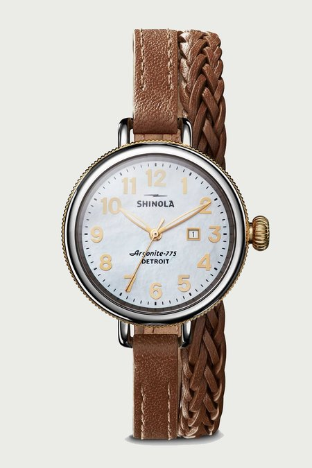 Shinola Birdy 3 HD 34mm Watch - White