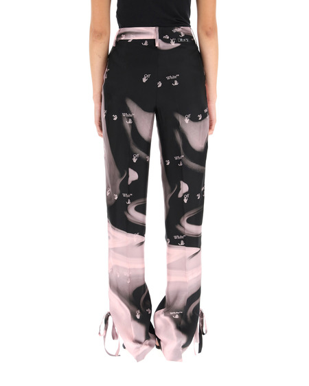 Off-White Liquid Logo Print Trousers - Multicolor