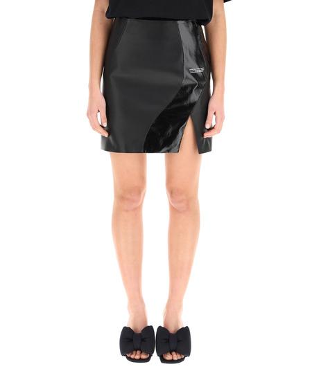Off-White Leather Mini Skirt - Black