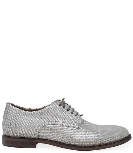 Moma Lace up Loafer - Silver