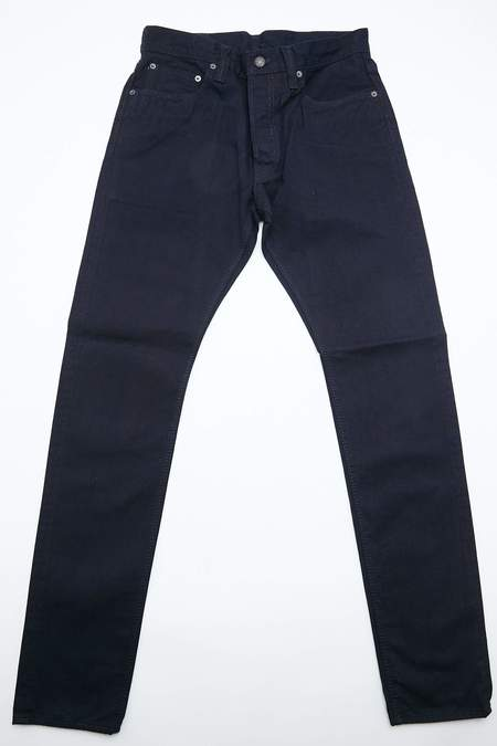 Pure Blue Japan Woven 12OZ Selvedge Twill Relaxed Tapered With One Wash Chino - Indigo