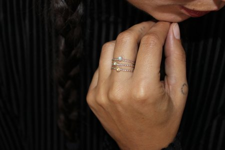Body Double Stoned Stacking Ring