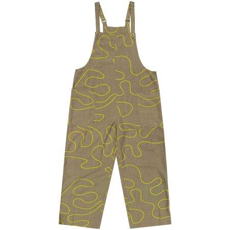Ali Golden Silk Overall Jumper - Khaki Squiggle