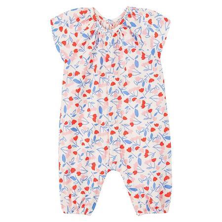 kids Petit Bateau Baby Mulan Jumpsuit - Pink/Floral