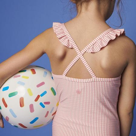 kids Petit Bateau Maissa Swimsuit - Pink Stripes