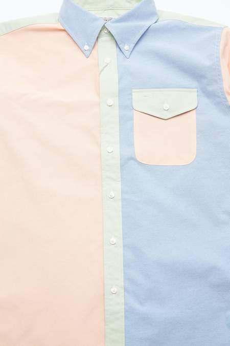Engineered Garments Workaday CP Oxford BD Shirt Combo - Yellow/Pink