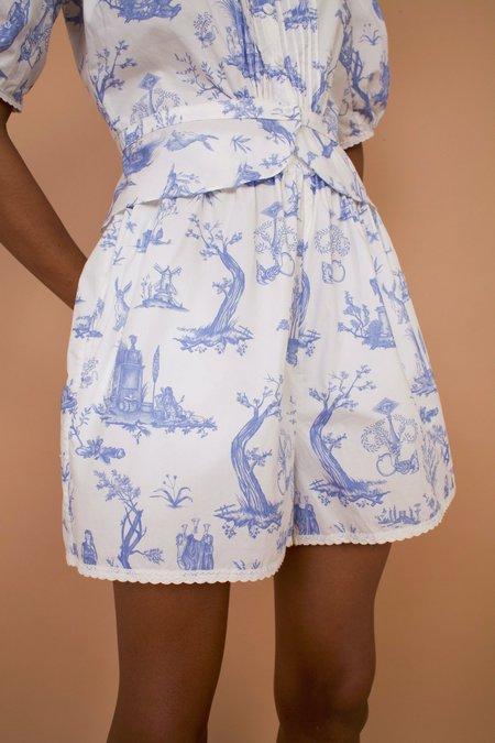 Meadows Caspia Shorts - Toile de Jouy