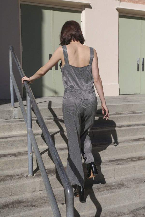 Rachel Comey Bend Jumpsuit in Black/White