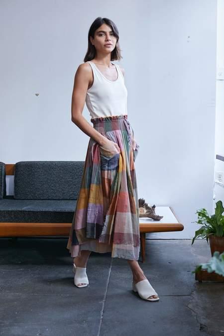 RUJUTA SHETH Merida Skirt + Dress - Dusk Multi Chex
