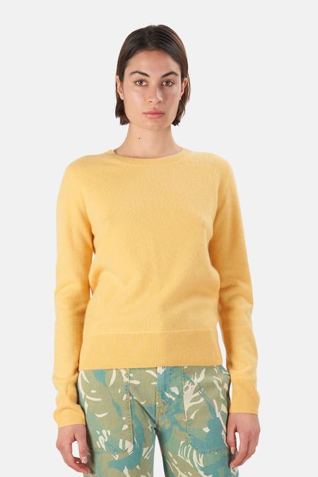 NAADAM Crew Pullover Sweater - Yellow