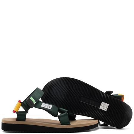 Suicoke Depa-Cab Sandals - Green/Beige