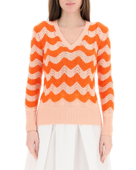 Marni Perforated Sweater - Wavy Stripes
